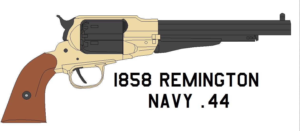 1858 Remington Navy .44 by bagera3005 on DeviantArt