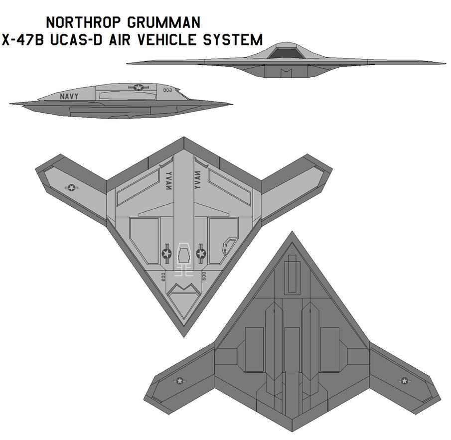 Northrop Grumman X-47B UCAS-D by bagera3005