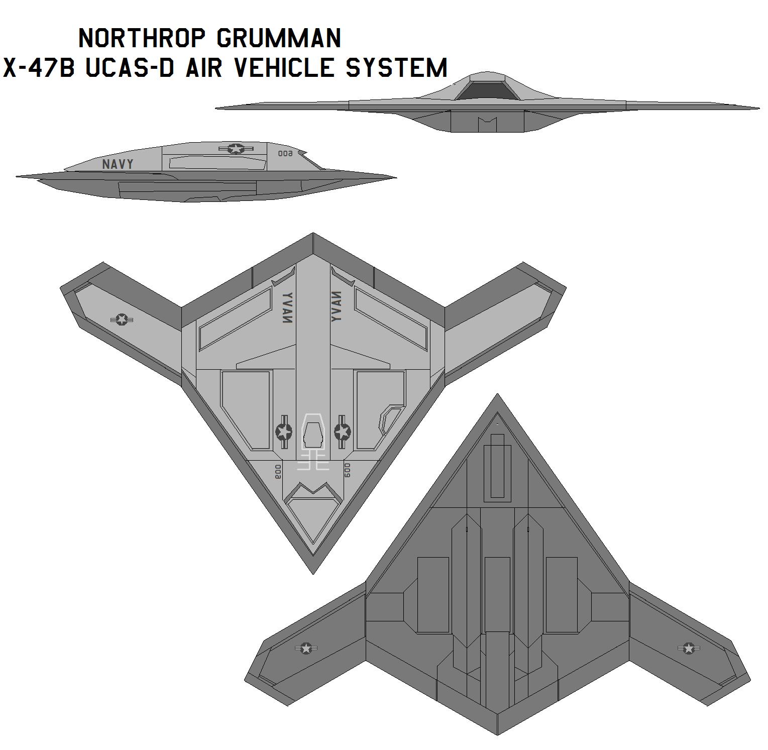 Free Printable Blueprints Northrop Grumman X 47b Ucas D By Bagera3005 On Deviantart