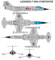 Lockheed F-104A Starfighter by bagera3005