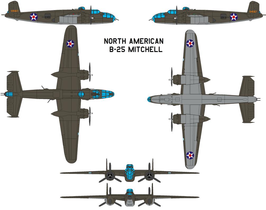North American B-25j Mitchell by bagera3005