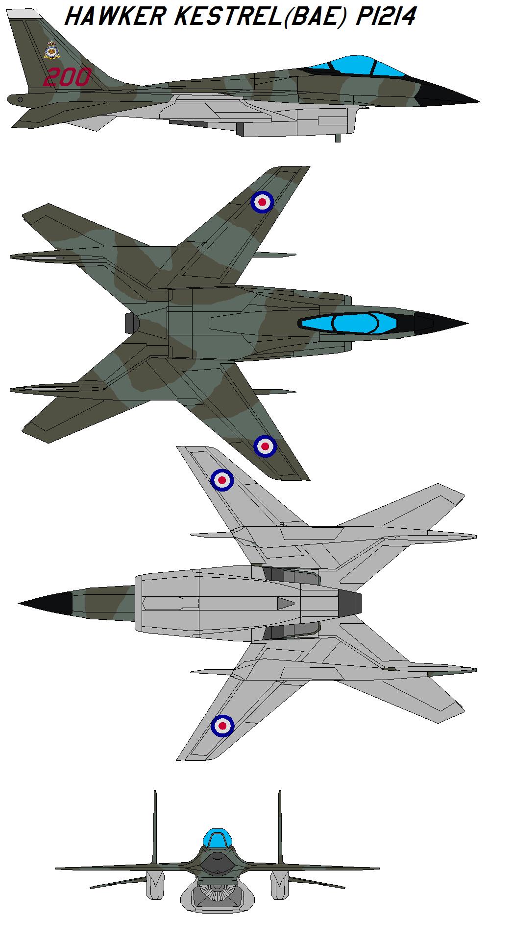 Hawker Kestrel BAe P1214 By Bagera3005 On DeviantArt