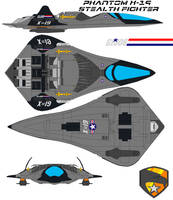 Phantom X-19 Stealth Fighter by bagera3005