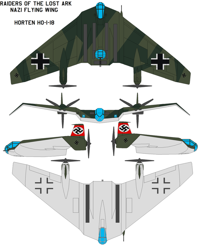 Indiana Jones Nazi Flying Wing by bagera3005