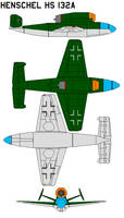 Henschel Hs 132A by bagera3005