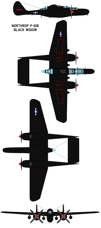 Northrop P-61B Black Widow by bagera3005