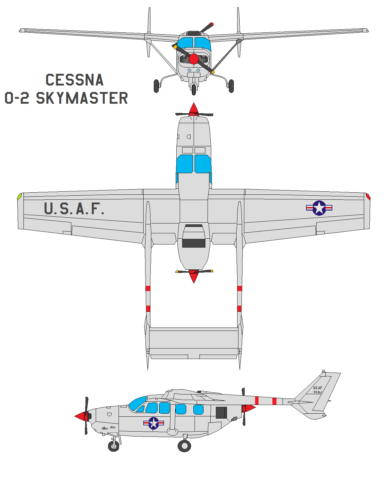 Cessna O-2 Skymaster by bagera3005