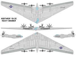 Northrop YB-35 by bagera3005