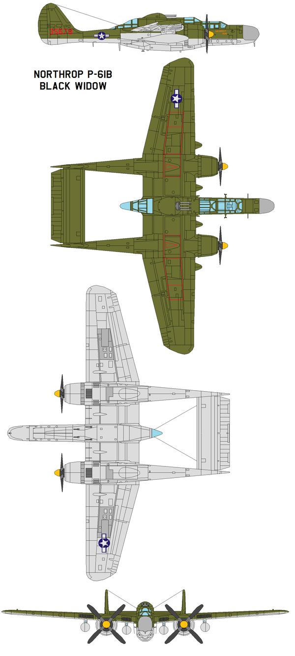 Northrop P-61B midnight run by bagera3005