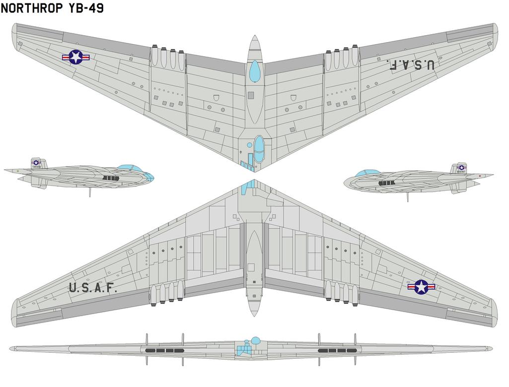Northrop YB-49 by bagera3005