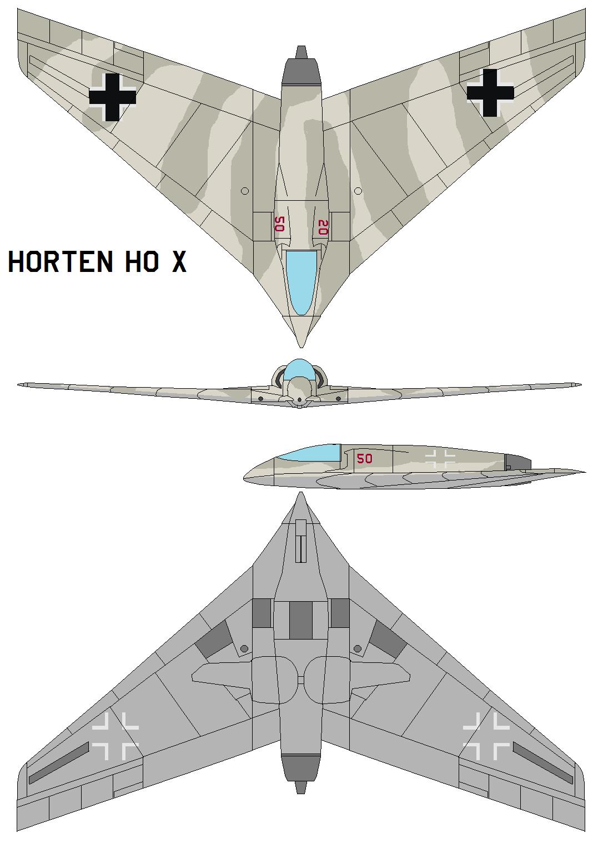 Horten Ho X by bagera3005