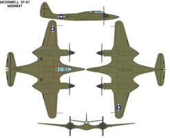McDonnell XP-67 Moonbat by bagera3005