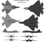 F-22 vs SU-50