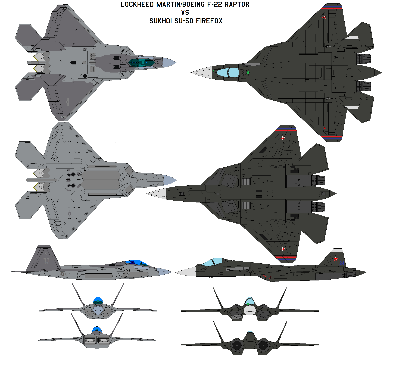 F-22 Vs SU-50 By Bagera3005 On DeviantArt