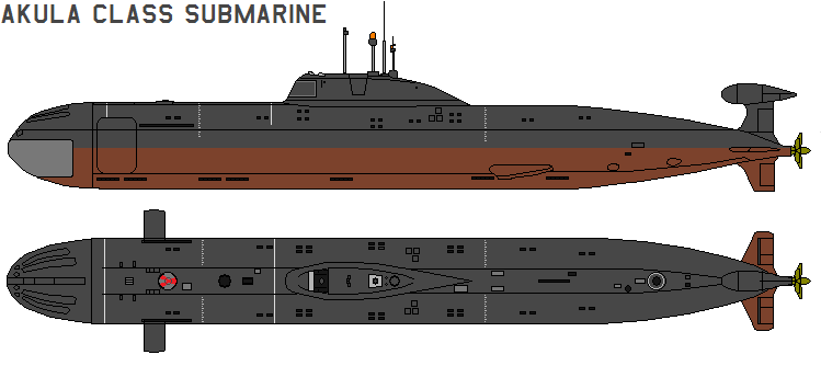 Akula class submarine by bagera3005