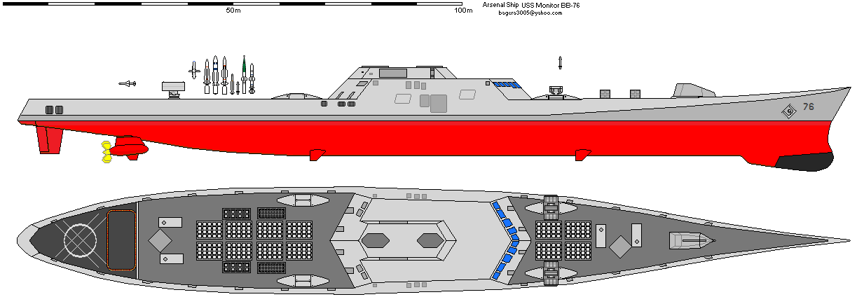 USS Monitor BB-76 Arsenal Ship By Bagera3005 On DeviantArt