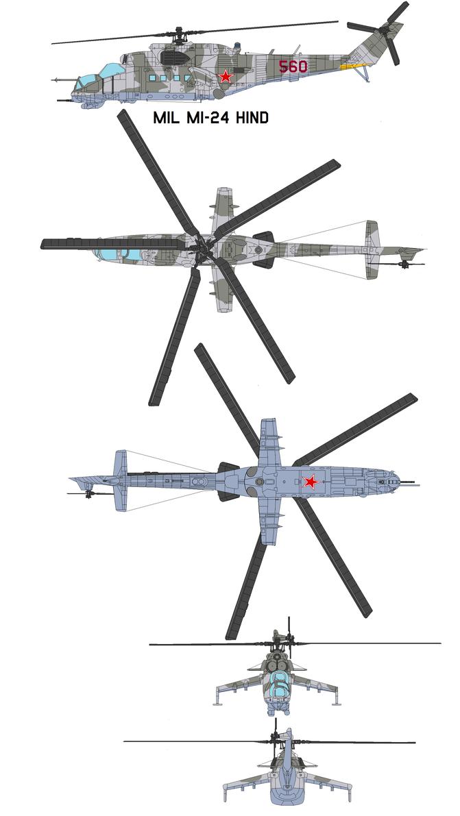 Mil Mi-24 Hind by bagera3005