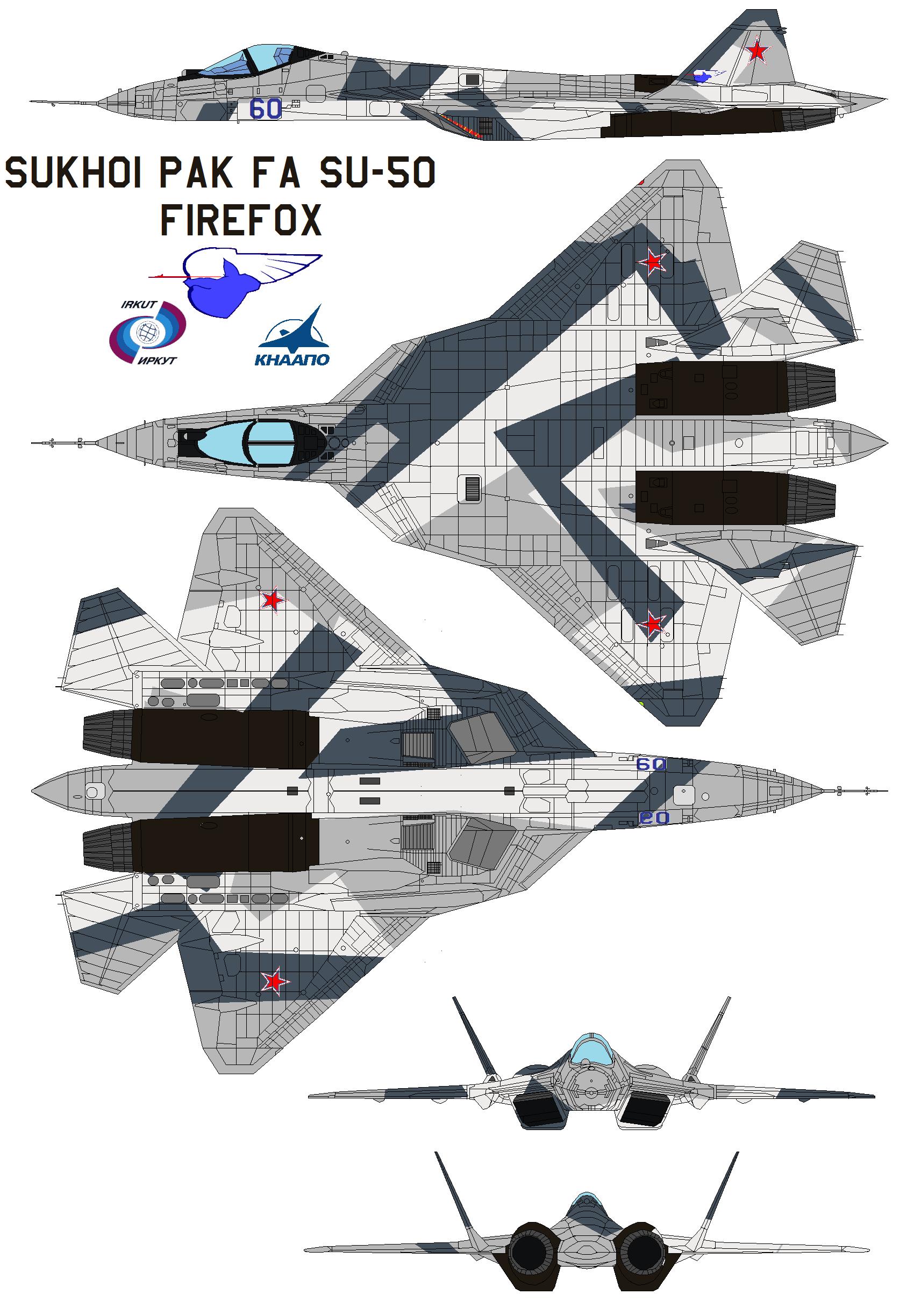 Sukhoi PAK FA SU-50 firefox by bagera3005