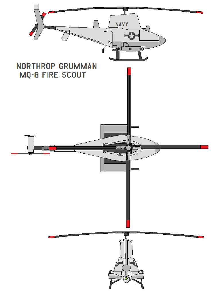 Northrop  MQ-8 Fire Scout by bagera3005