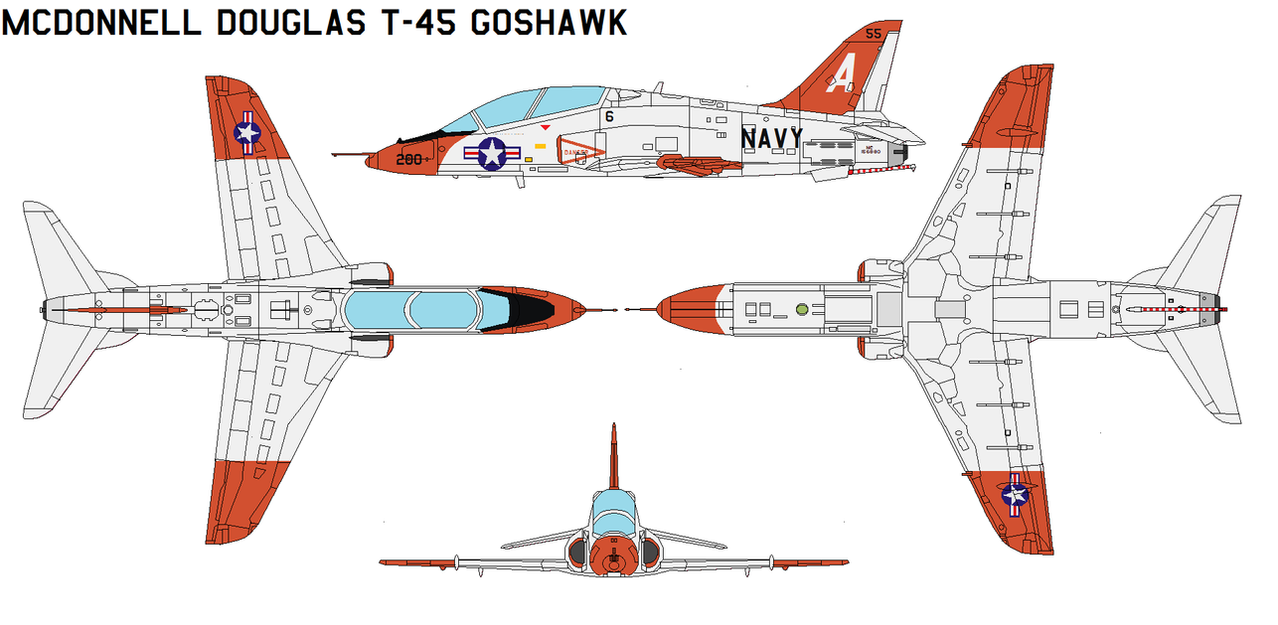 McDonnell Douglas T-45 Goshawk by bagera3005
