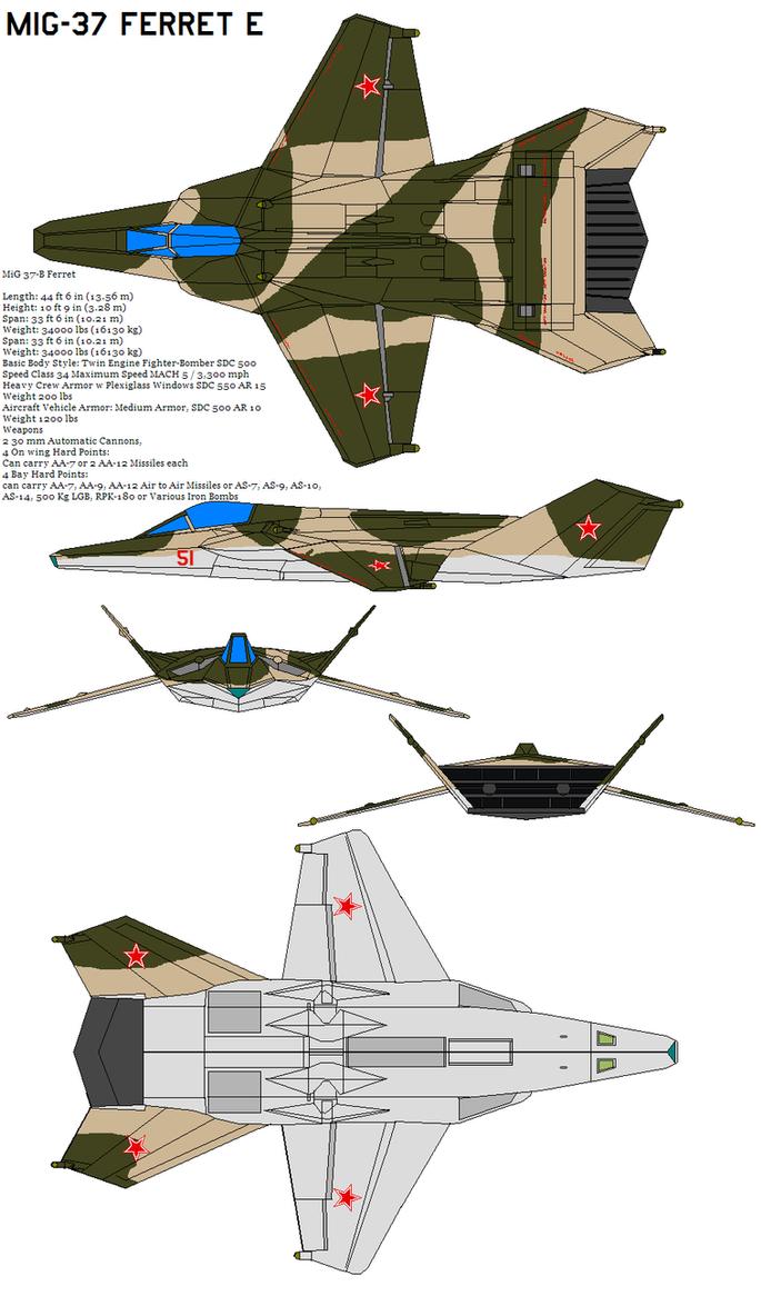 MiG-37 Ferret E  camo b by bagera3005