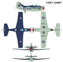 Fairey Gannet by bagera3005
