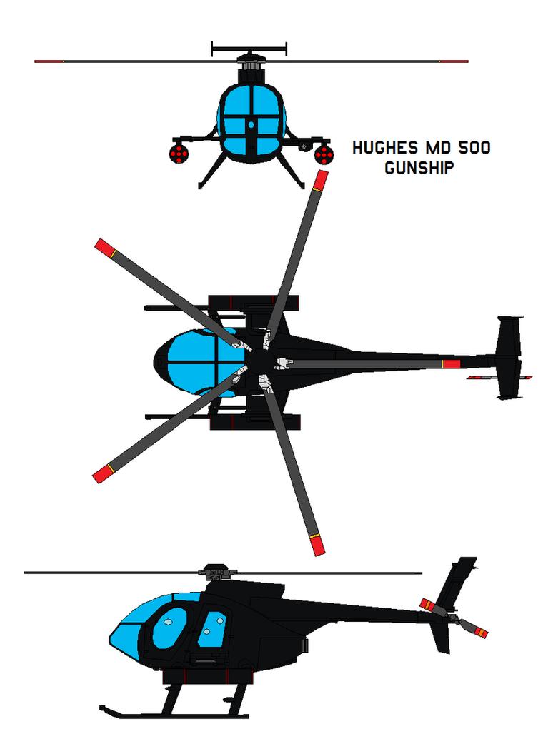 Hughes Md 500 Gunship By Bagera3005 On Deviantart