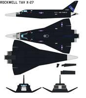 Rockwell TAV X-27 by bagera3005