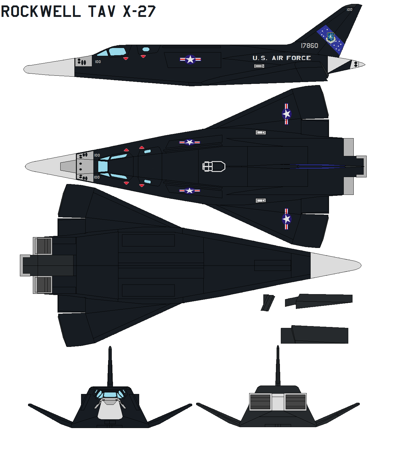 Rockwell TAV X-27 by bagera3005