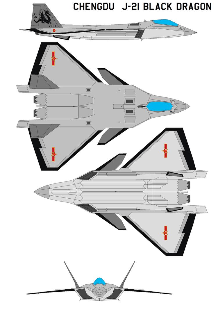 Chengdu  j-21 Black Dragon by bagera3005