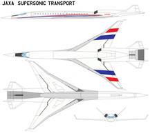 JAXA  Supersonic Transport. by bagera3005