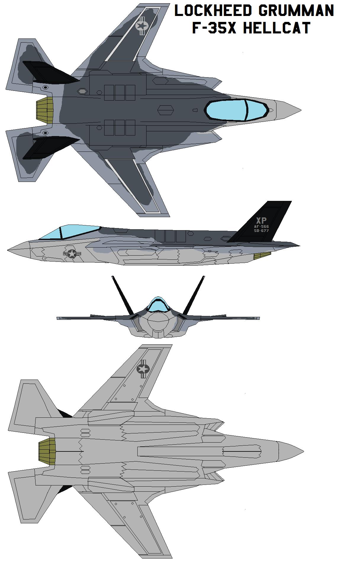 Lockheed Grumman F-35X HELLCAT by bagera3005