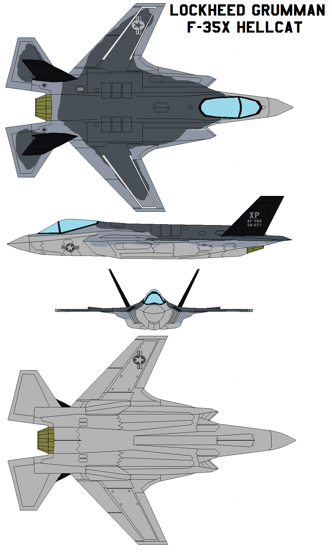 Lockheed Grumman F 35x Hellcat By Bagera3005 On Deviantart