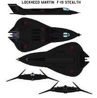 Lockheed Martin F-19 Stealth by bagera3005