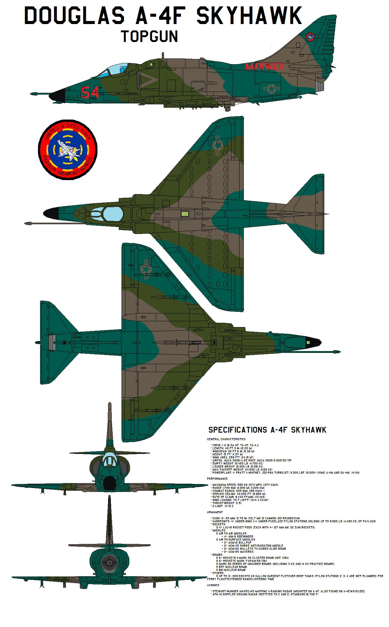 Douglas A-4F Skyhawk topgun by bagera3005