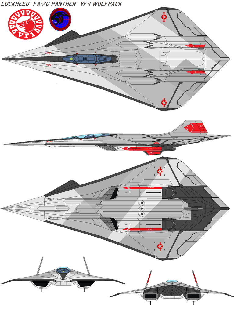 Lockheed  FA-70 Panther  VF-1 by bagera3005
