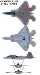 Lockheed  F-22B  Strike Raptor