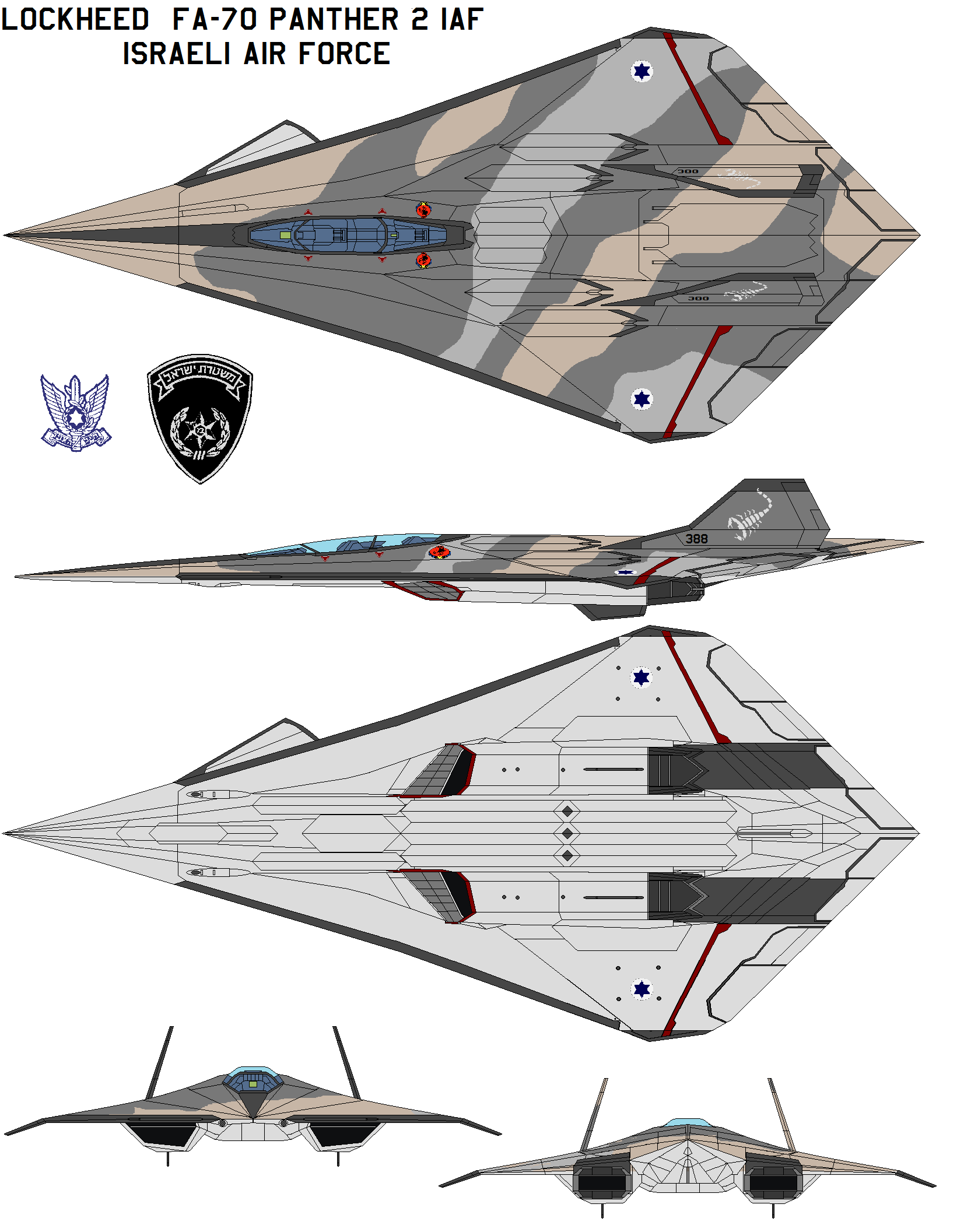 Lockheed  FA-70 Panther 2 IAF by bagera3005