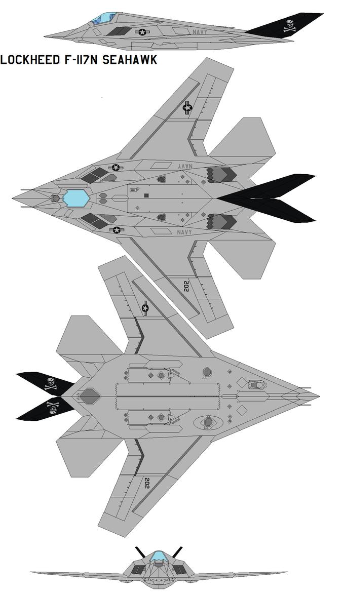 Lockheed F-117N Seahawk by bagera3005