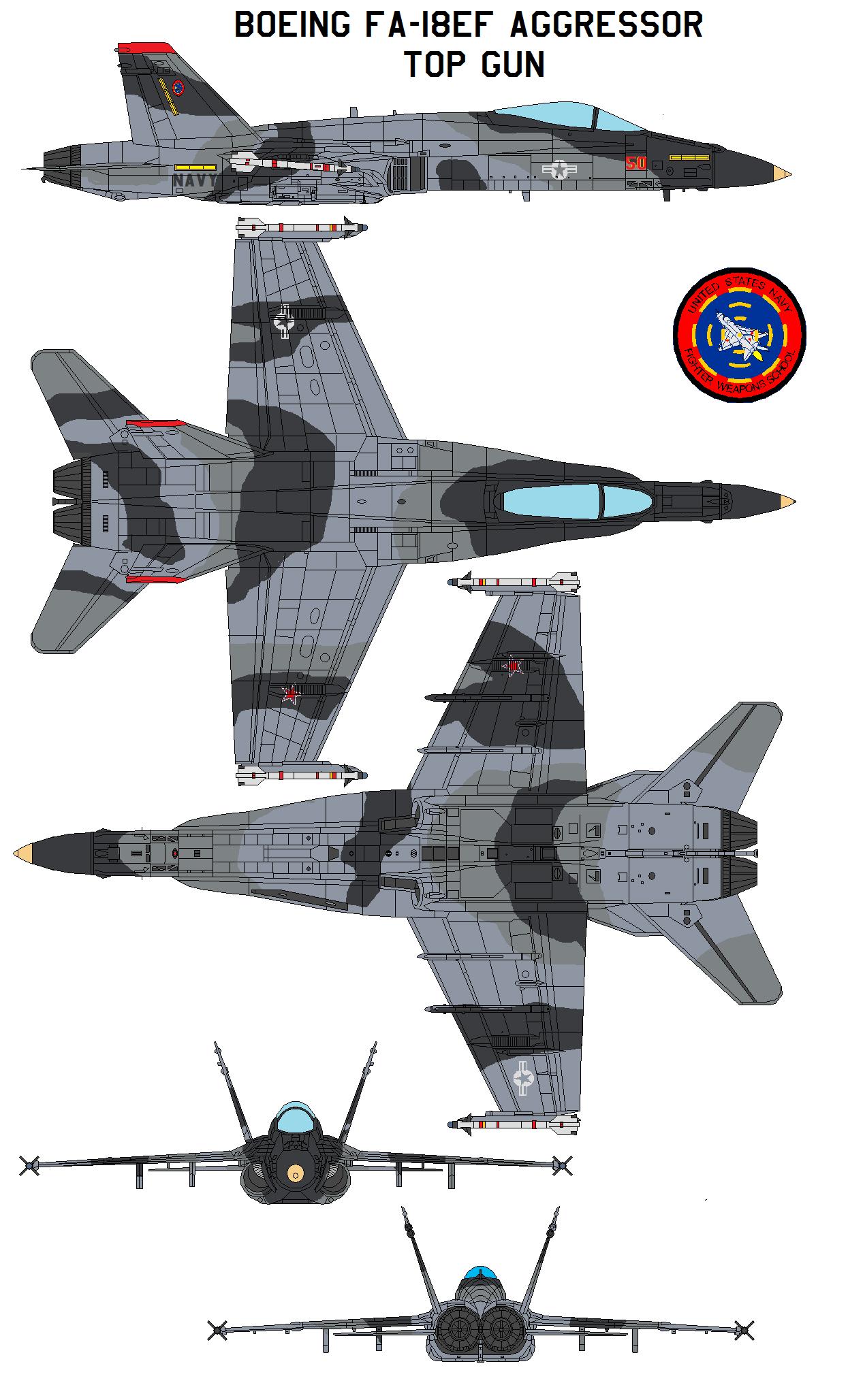 FA-18EF Aggressor  top gun by bagera3005