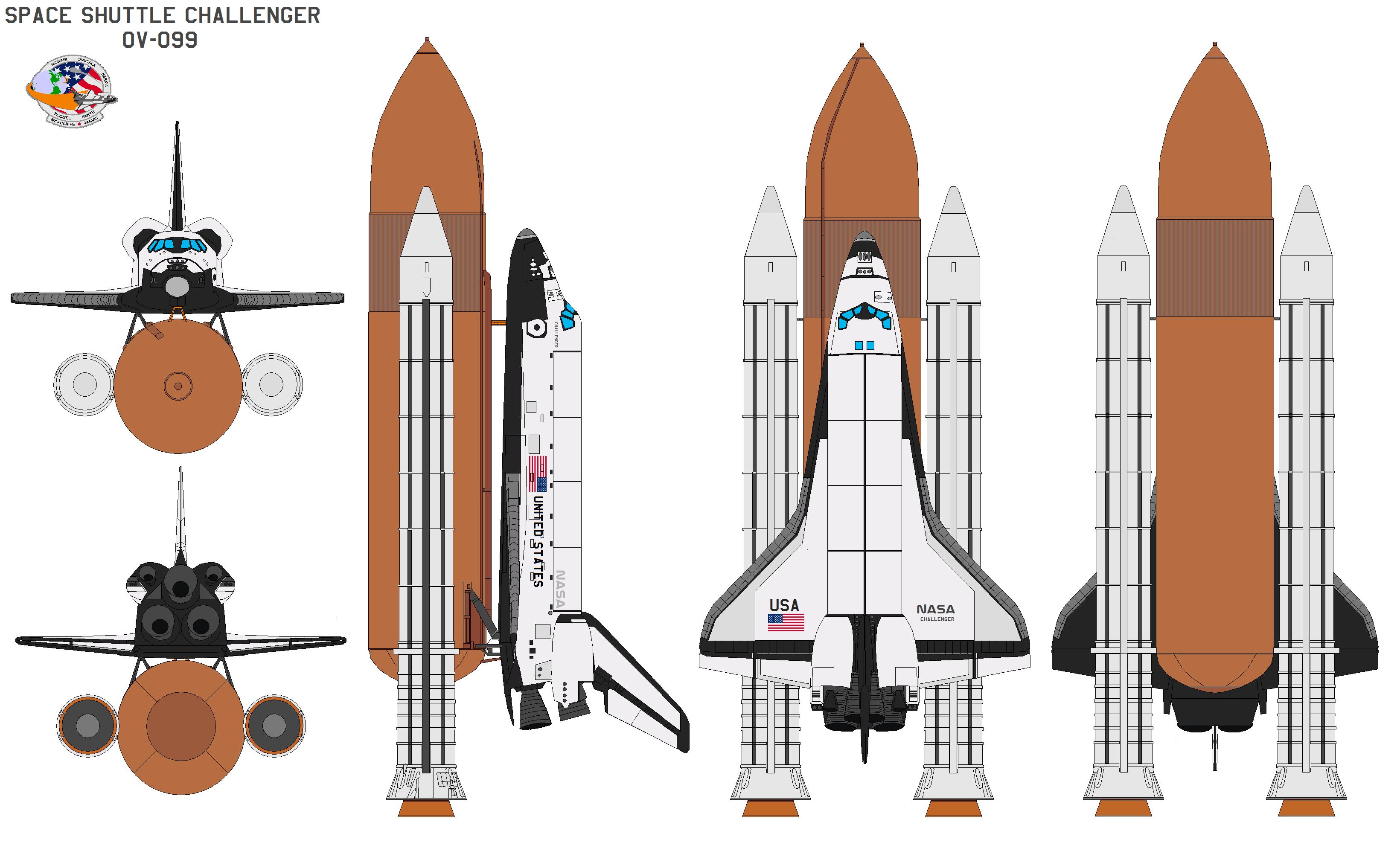 Shuttle Challenger OV-099 by bagera3005 on DeviantArt