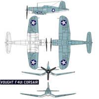 Vought F4U1 Corsair by bagera3005