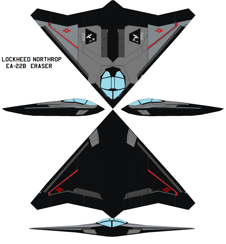 Lockheed EA-22b Eraser by bagera3005
