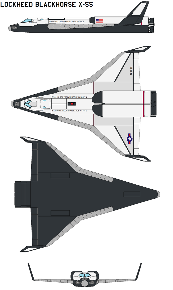 lockheed blackhorse X-55 by bagera3005