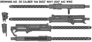 M2 .50 caliber Ma Duce navy