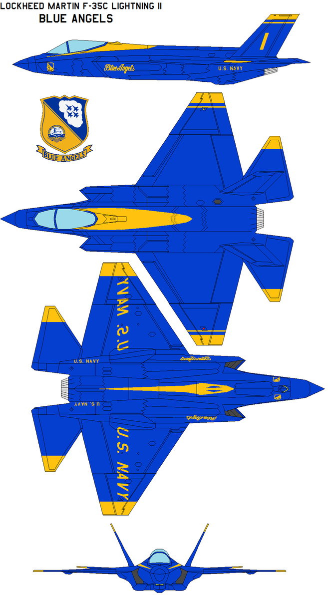 Blue Angels F-35C Lightning II by bagera3005