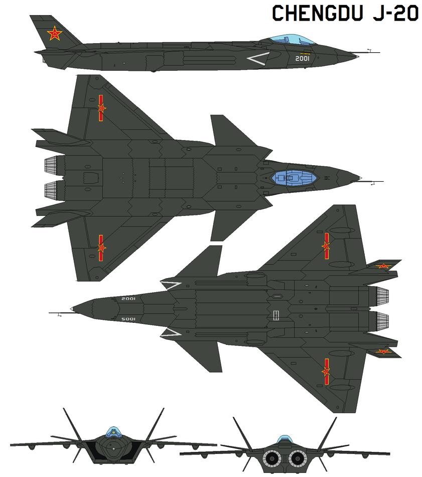 Chengdu J-20 by bagera3005