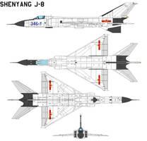 Shenyang J-8 Finback by bagera3005