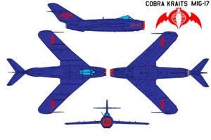 Cobra kraits MiG-17 by bagera3005