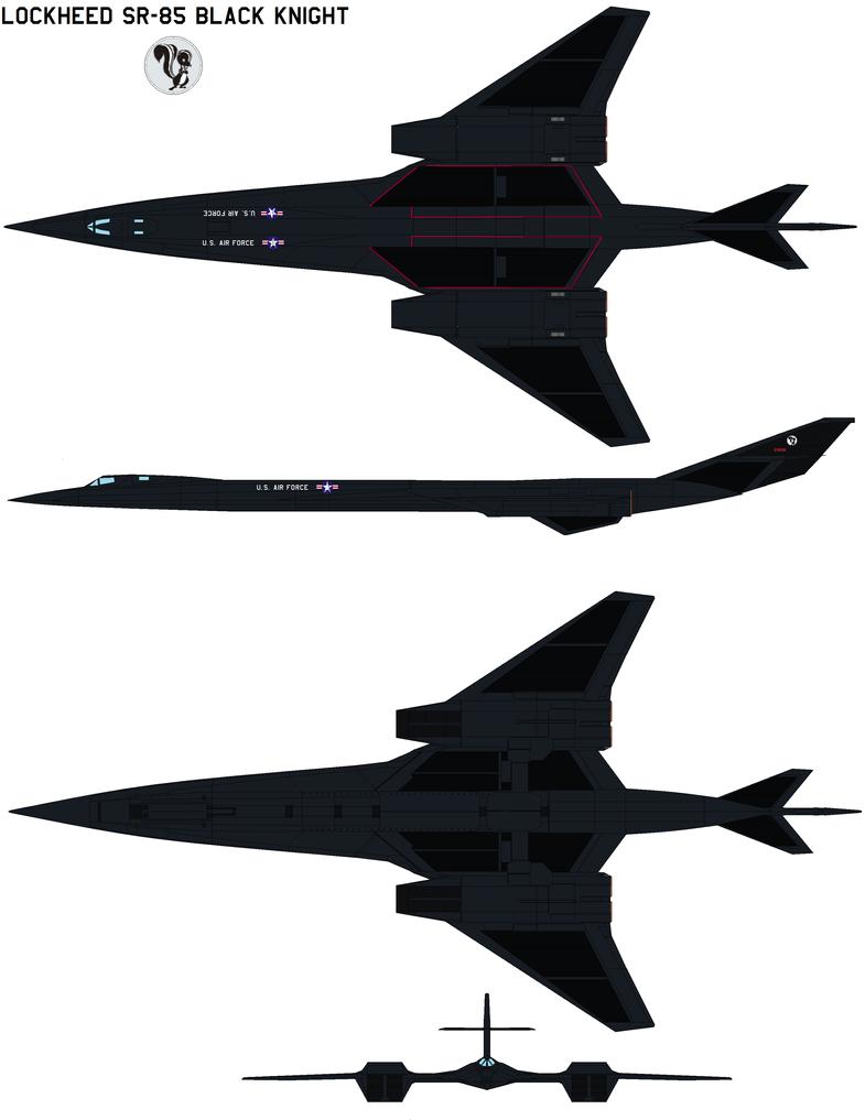 lockheed SR-85 black knight by bagera3005
